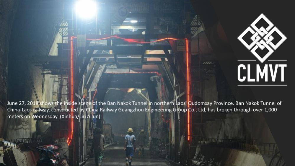 China-Laos Railway Tunneling through the mountains of Laos
